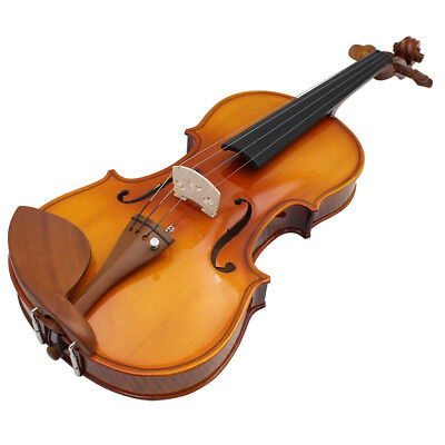 Full Size 4/4 Natural Acoustic Solid Wood Spruce Flame Maple Veneer Violin A2C0