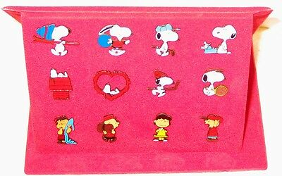 12 Peanuts Snoopy Comic Pins Pin Button Top In Folder Selten Antik Ovp Top!!