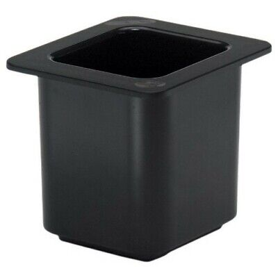 "Cambro 66Cf110 Coldfest Black 1/6 Size 6"" H Cold Food Pan"