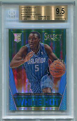 2013-14 Panini Select White Hot Victor Oladipo Green Prizm Rookie RC 5/5 BGS 9.5
