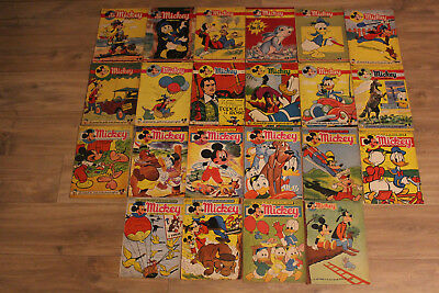 Lot de 22 Mickey Magazine de 1952 à 1958
