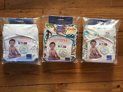 BNIP BAMBINO MIO MIOSOLO all in one reusable nappy one size X3 BUNDLE