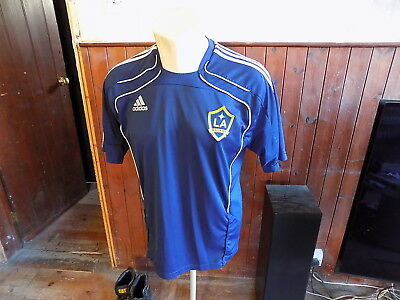 LA Galaxy adidas football shirt MLS training top size 42 USA soccer