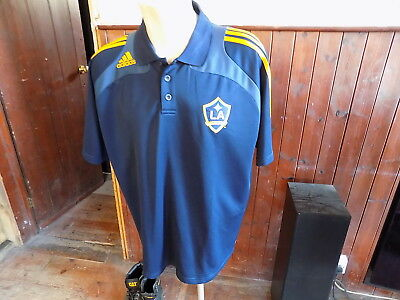 LA Galaxy football shirt polo top adidas size 48 50 good condition USA soccer
