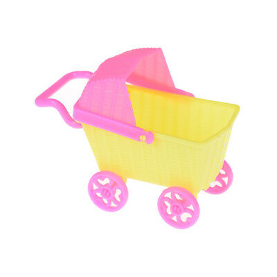 Plastic Stroller Double Pram Accessories for  Doll Kelly Dollhouse Toy ^F