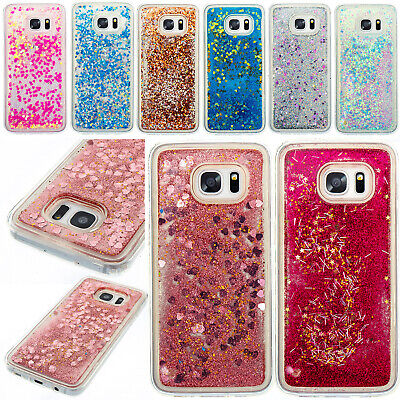 For Samsung S5 S6 S7 Case Shockproof Glitter Quicksand Thin Hybrid Rubber Cover