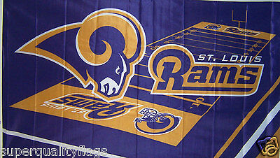 NEW 3 X 5 ft ST LOUIS RAMS FIELD DESIGN BANNER FLAG