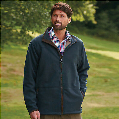 Men's Thick Micro Fleece Champion Berwick Jacket Faux Suede Shoulder Patch M-3XL