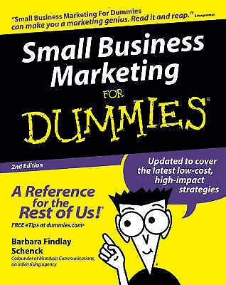 Small Business Marketing For Dummies by Barbara Findlay Schenck (Paperback,...