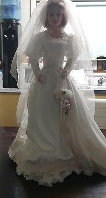 Large Bride Doll.80 Cm High.Exquisitely made .no fade or yellowing .