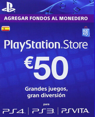 Psn Card 50€ España Tarjeta Prepago Playstation Network Psn Ps3 Ps4 Fortnite