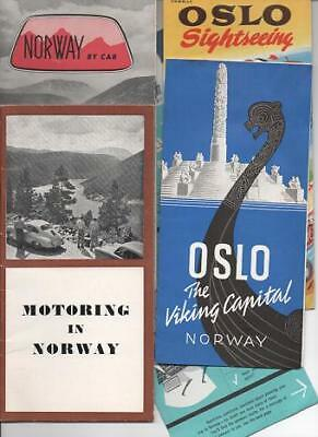 Norway / GROUP OF SIX 6 AUTOMOBILE TOURING GUIDES 1956 Travel Original editions