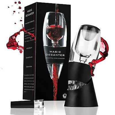 Trcode Wine Aerator with a Vacuum Wine Stopper for Wine Gift,Home Use And Party,