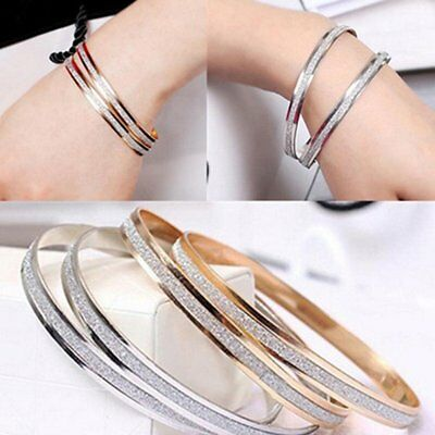 Women Unique Bracelet Charm Scrub Type Female Ladies Wedding Bracelet Bangle U1