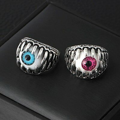 J188 Evil Eye Skull Men's Ring Devil Eyeball Halloween Party Props Men Jewelry A