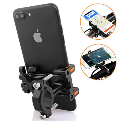 Bike Phone Alloy Mount Motorcycle Cellphone Handlebar Holder For iPhone X Xs XR