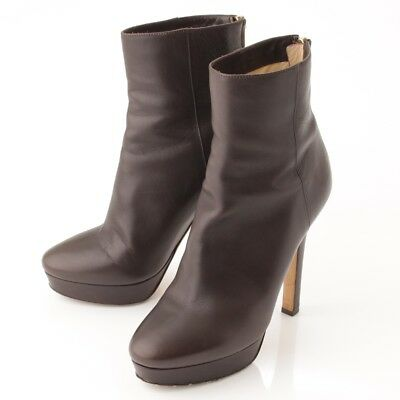 b00596341a7 Authentic Jimmy Choo Leather Ankle Boots Dark Brown 37 Grade Ab Used - Hp