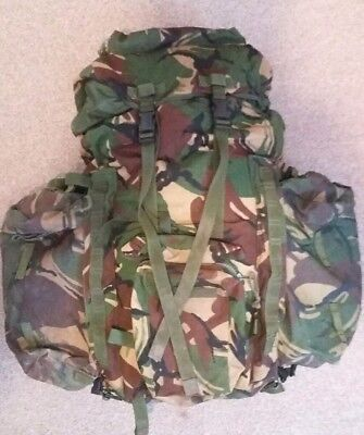British army dpm infantry short back bergen rucksack side Pouches  yoke and...