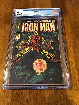 Iron Man #1 CGC 2.5 Cream to Off-White Pages