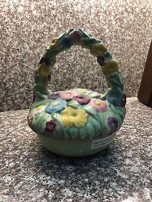 FULPER  Flower Basket purchased  from Museum w/ papers MINT SIGNED