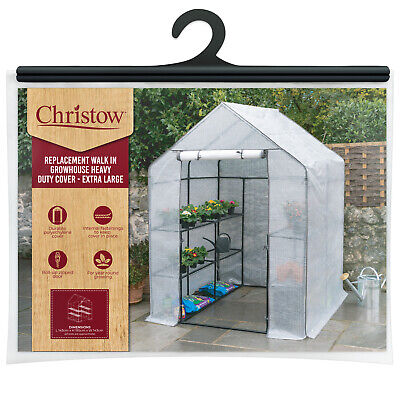 Large Walk In Greenhouse Replacement Cover Grow House Protector – COVER ONLY