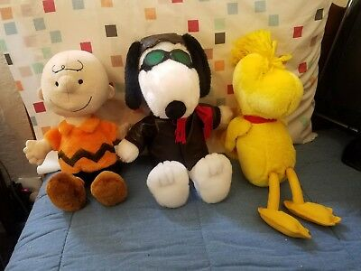 Kohl's Cares Plush Peanuts Snoopy, Woodstock & Charlie Brown (lot of 3)