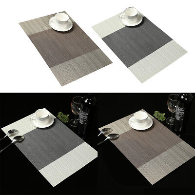 Charmant Cn _ 4Pcs Rayures PVC Rectangle Napperon Isolé Table Salle à Manger Tapis