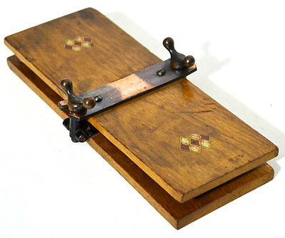 Art Deco Inlaid Marquetry Tie Press C1930's - Free Postage [PL2981 A ]