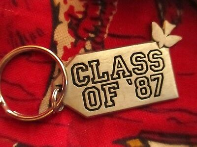 VINTAGE 80s CHRISTIAN CLASS OF 1987 PEWTER KEYRING/KEYCHAIN/FOB  LOT 2