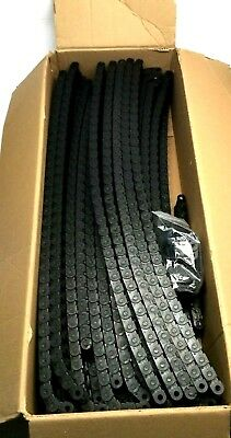 """Igus 14.3.038 Black E-Chain, 14-3-038, Approx. 100' Long, Approx. 1-1/15"""" Wide"""