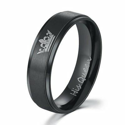 Unique Men Women Couples Titanium Steel Ring Wedding Engagement Ring Jewelry H7
