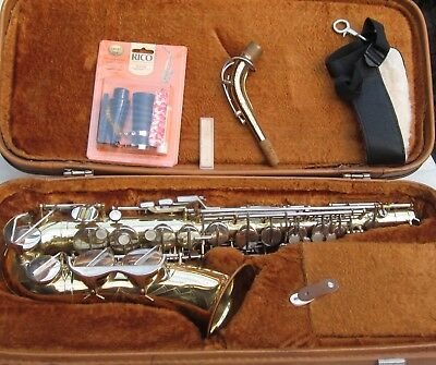 SAXOPHONE - POWERTONE Bb - COMPLETE IN CARRY CASE-NEW MOUTHPIECE