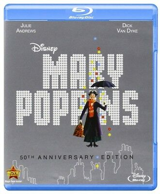 Mary Poppins: 50th Anniversary Edition [Blu-ray + DVD + Digital] (Bilingual) NEW