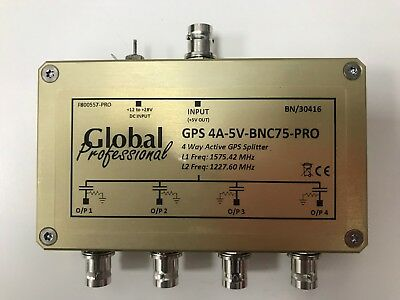 Global Professional GPS 4 Way Active Splitter