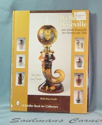 Excellent Research Reference Book Weller Roseville Art Pottery FREE SHIPPING
