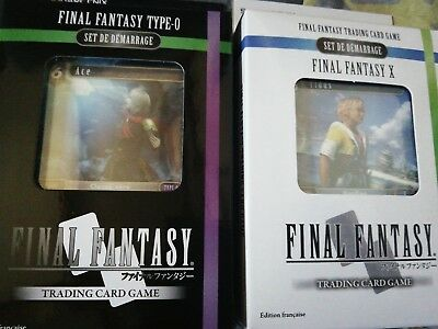 Lot 2 Deck Set Demarrage Cartes Final Fantasy Trading Card Starter