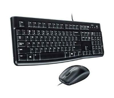 Logitech Desktop MK120 Wired Simplicity - USB Keyboard and Mouse Set - English -