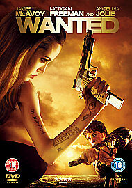 Region 2 DVD WANTED James McAvoy of SPLIT Morgan Freeman & Angelina Jolie ACTION