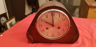 Vintage Chiming Mantle Clock Haller Movement 190,66 12Cm.