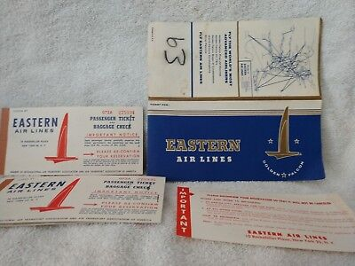 1960 Eastern Airlines Complete Tickets and Jacket