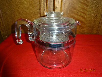 Vintage Glass Coffee Pot #7756 Complete Pyrex 6 Cup Percolator