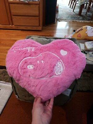 New Peanuts Snoopy Pink Heart Cushion Pillow with Pockets Valentine Japan