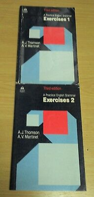 2 livres boeken A practical english grammar Exercises 1+2 Thomson Martinet