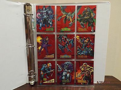 1993 MARVEL UNIVERSE SERIES IV RED FOIL CARDS w/MINOR FLAWS - 1/2 PRICE!