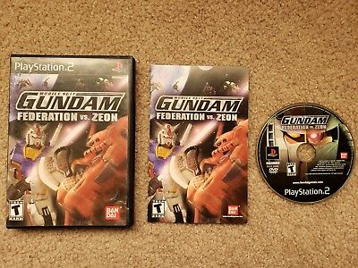 Mobile Suit Gundam: Federation vs. Zeon (Sony PlayStation 2) PS2, Complete!