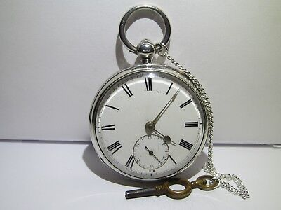 1880 fusee pocket watch R. Wright Coventry solid silver g.c d and working