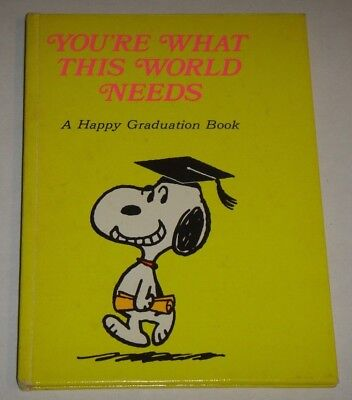 ULTRA SCARCE!! 1971 You're What This World Needs A Happy Graduation Book Snoopy