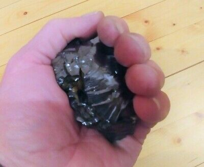 Shungite elite one stone nugget 50 - 60 grams. VERY RARE MINERAL. 98% carbon.