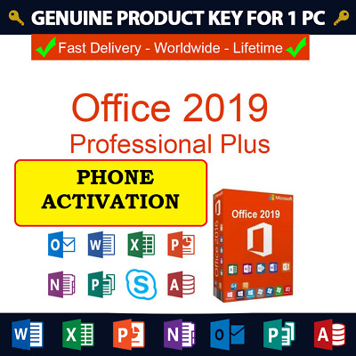 Microsoft Office 2019 Professional Plus ✔ pro plus ✔ 32/64Bits ✔PHONE ACTIVATION