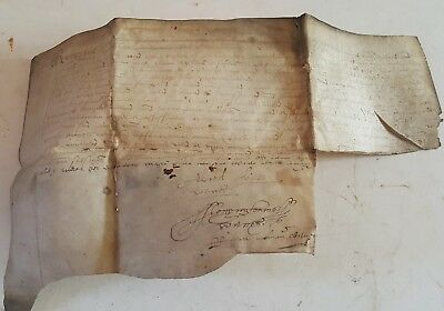 Indenture Scotland early 1600's incomplete